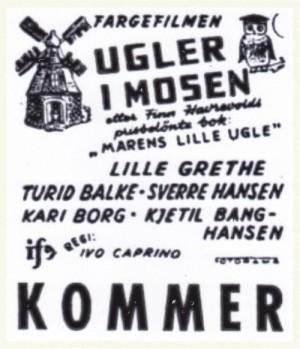"""Klassikeren """"Ugler i mosen"""" (Ivo Caprino, regi) hadde premiere 2. juledag 1959."""